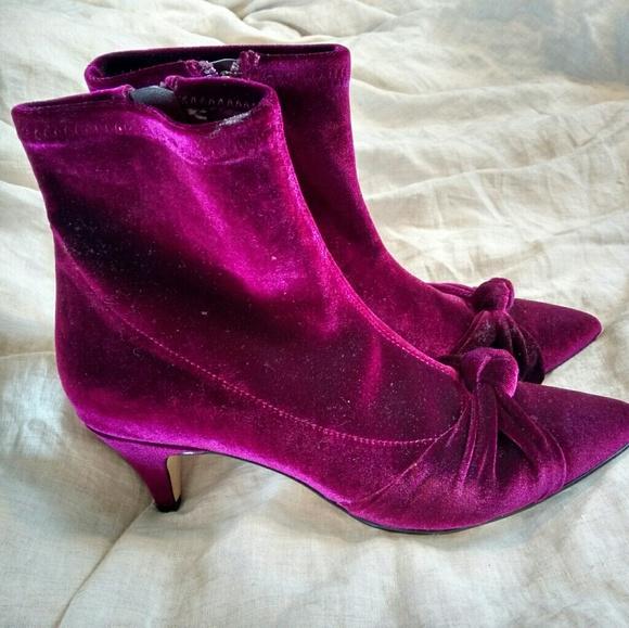 3b85b8ca8 Sam Edelman Shoes - Velvet kitten-heel booties